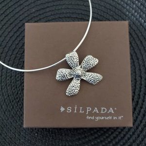 Silpada Sterling Flower Pendant on Silpada Chain